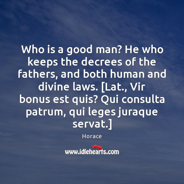 Image, Who is a good man? He who keeps the decrees of the