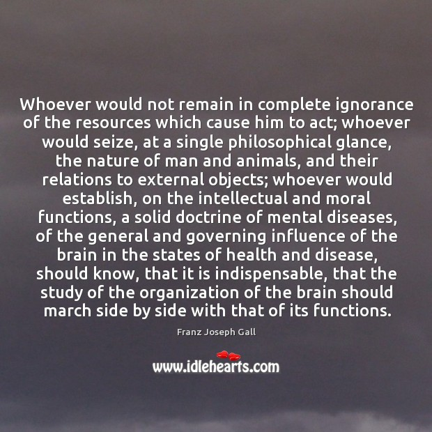 Whoever would not remain in complete ignorance of the resources which cause Image