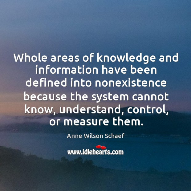 Image, Whole areas of knowledge and information have been defined into nonexistence