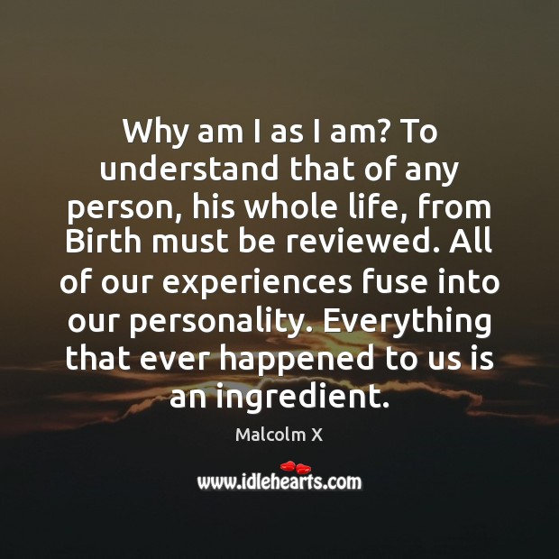 Why am I as I am? To understand that of any person, Image