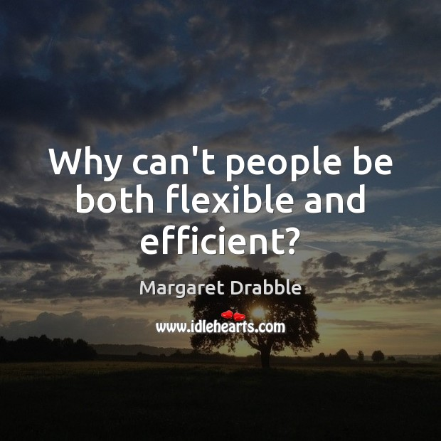Why can't people be both flexible and efficient? Image