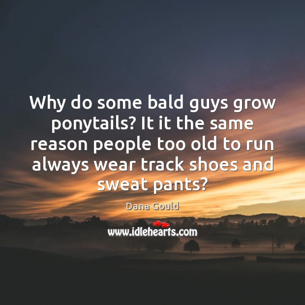 Why do some bald guys grow ponytails? It it the same reason Dana Gould Picture Quote