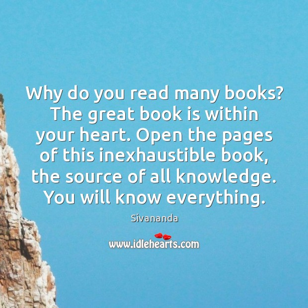 Why do you read many books? The great book is within your Image