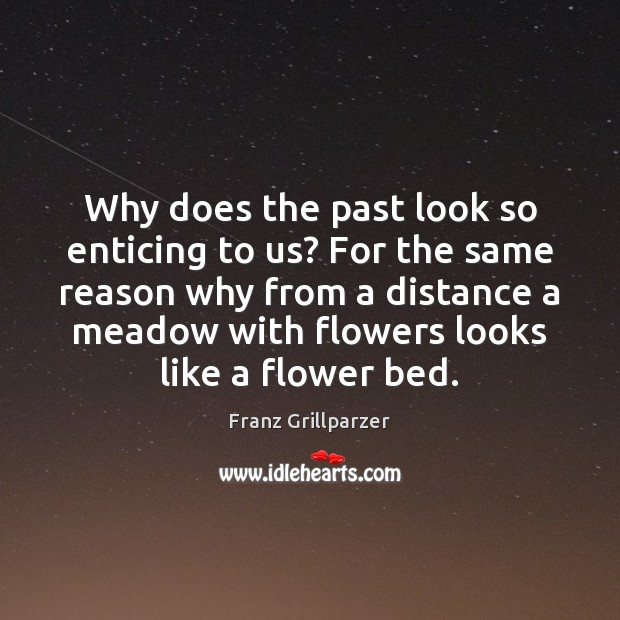 Why does the past look so enticing to us? For the same Flowers Quotes Image