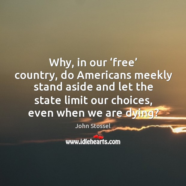 Why, in our 'free' country, do americans meekly stand aside and Image