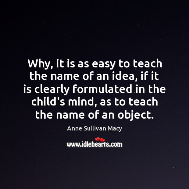 Image, Why, it is as easy to teach the name of an idea,