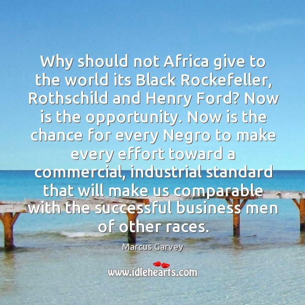 Why should not Africa give to the world its Black Rockefeller, Rothschild Image
