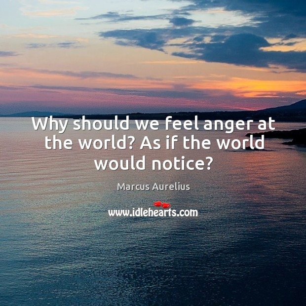 Image, Why should we feel anger at the world? As if the world would notice?