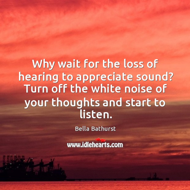 Image, Why wait for the loss of hearing to appreciate sound? Turn off