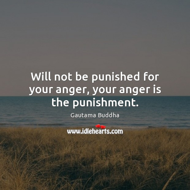 Will not be punished for your anger, your anger is the punishment. Anger Quotes Image