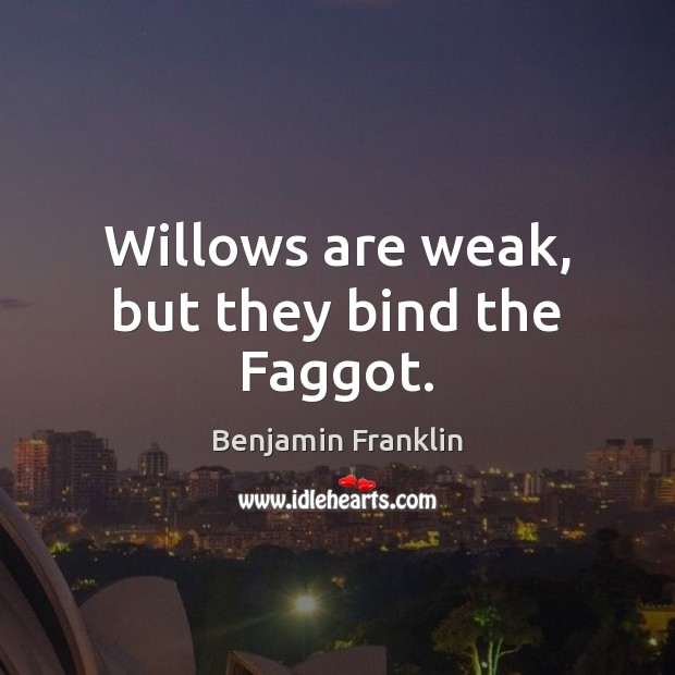 Willows are weak, but they bind the Faggot. Image