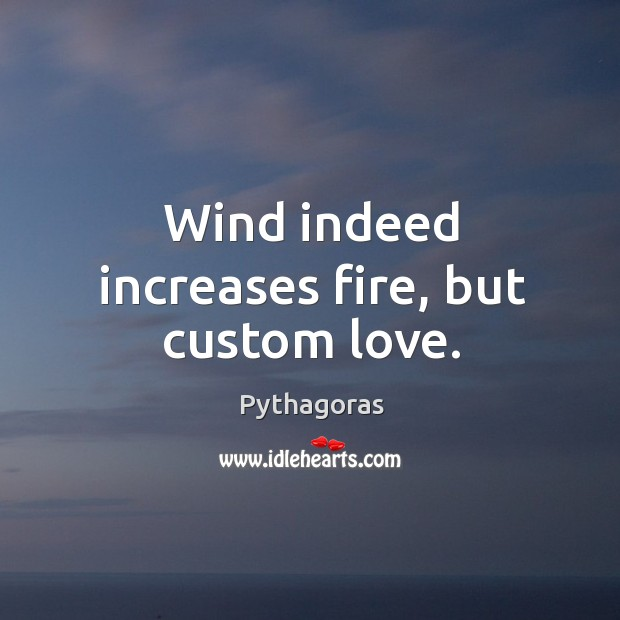 Image, Wind indeed increases fire, but custom love.