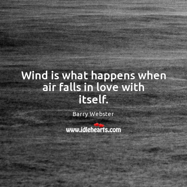 Wind is what happens when air falls in love with itself. Image