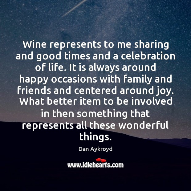 Image, Wine represents to me sharing and good times and a celebration of