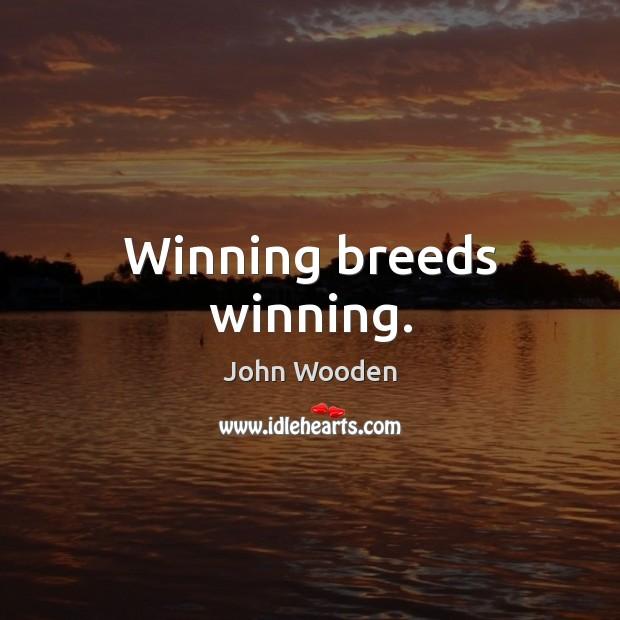 Winning breeds winning. Image
