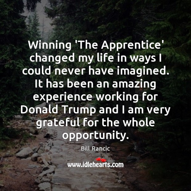 Image, Winning 'The Apprentice' changed my life in ways I could never have