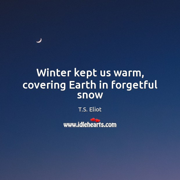 Winter kept us warm, covering Earth in forgetful snow Image