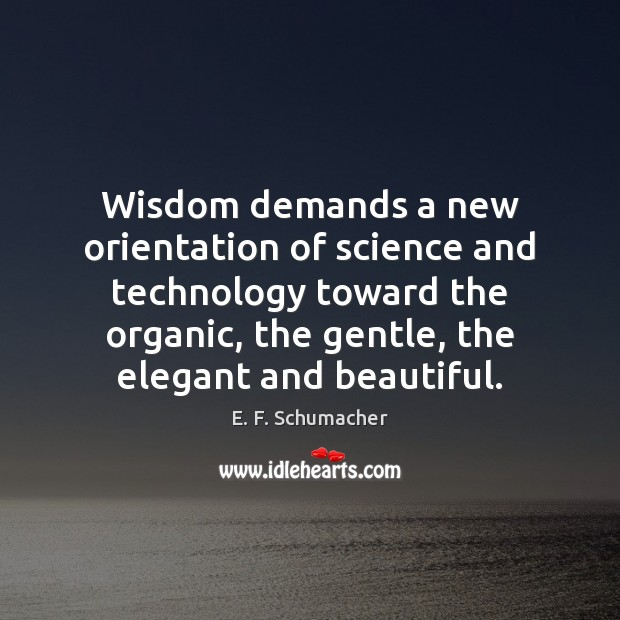 Wisdom demands a new orientation of science and technology toward the organic, Image
