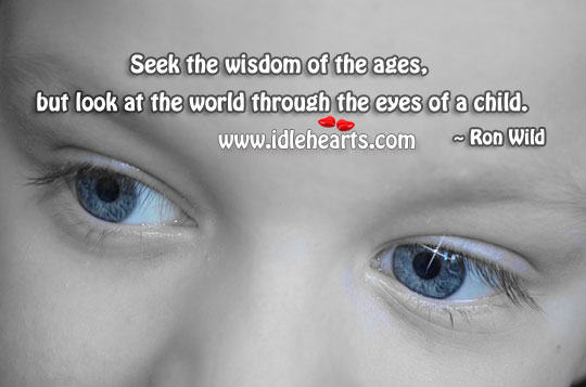 Child, Eyes, Look, Seek, Wisdom, World