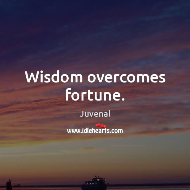 Wisdom overcomes fortune. Image
