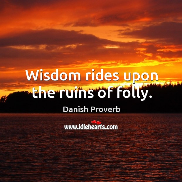 Image, Wisdom rides upon the ruins of folly.