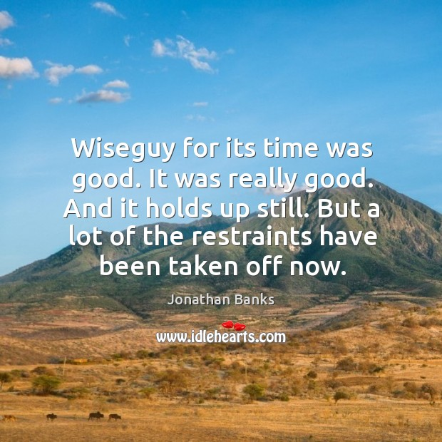 Wiseguy for its time was good. It was really good. And it Image