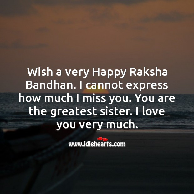 Wish a very happy raksha bandhan. Raksha Bandhan Messages Image