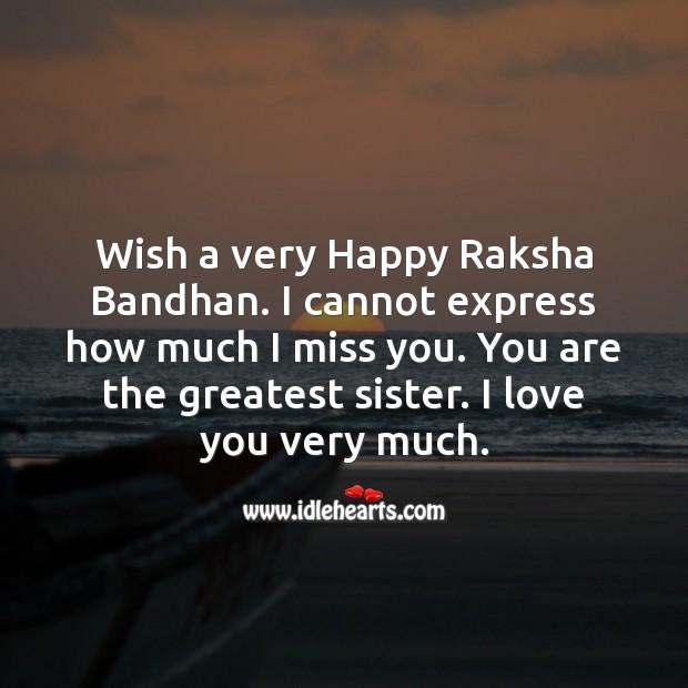 Wish a very happy raksha bandhan. Raksha Bandhan Quotes Image