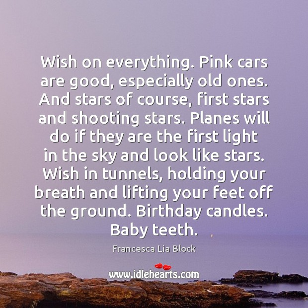 Image, Wish on everything. Pink cars are good, especially old ones. And stars