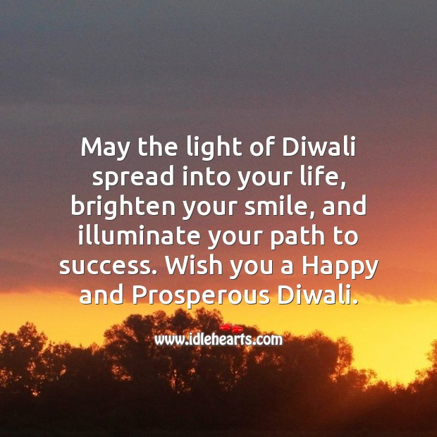 Wish you a happy and prosperous diwali Diwali Messages Image