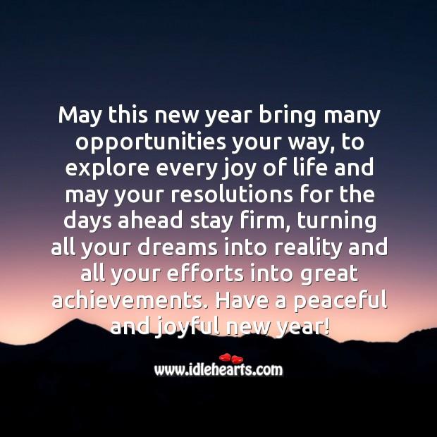Image, Wish you a peaceful and joyful new year
