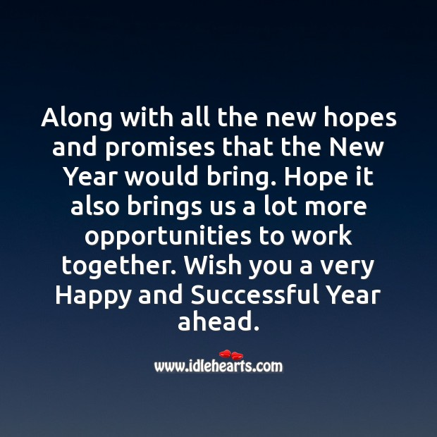 Wish you a very Happy and Successful Year ahead. New Year Quotes Image