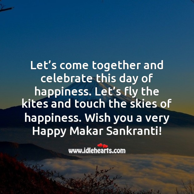 Wish you a very Happy Sankranti! Celebrate Quotes Image