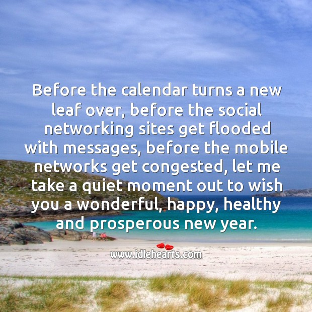 Image, Wish you a wonderful, happy, healthy and prosperous new year.