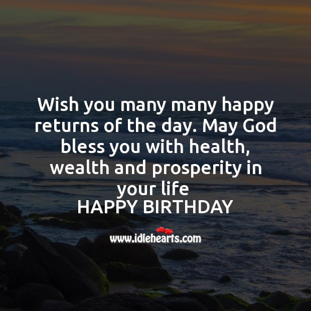 Wish you many many happy returns of the day. Image