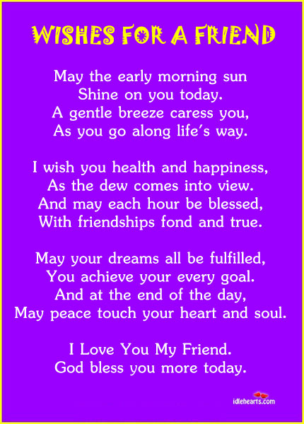 Wishes for a friend Goal Quotes Image