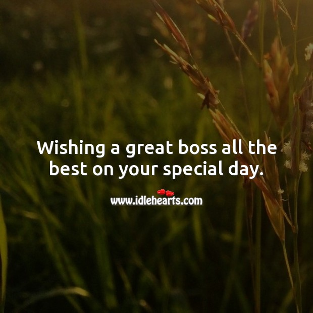 Wishing a great boss all the best on your special day. Birthday Messages for Boss Image