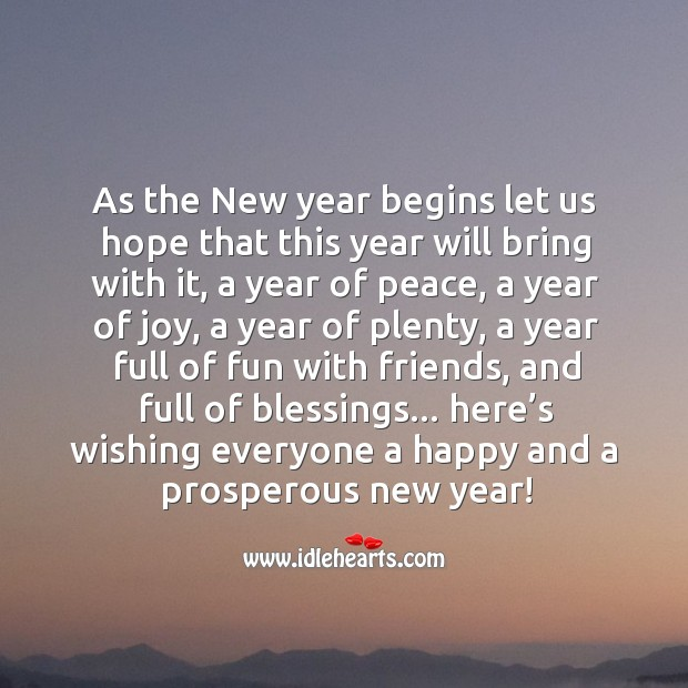 Image, Wishing everyone a happy and a prosperous new year!