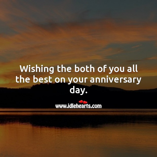 Image, Wishing the both of you all the best on your anniversary day.