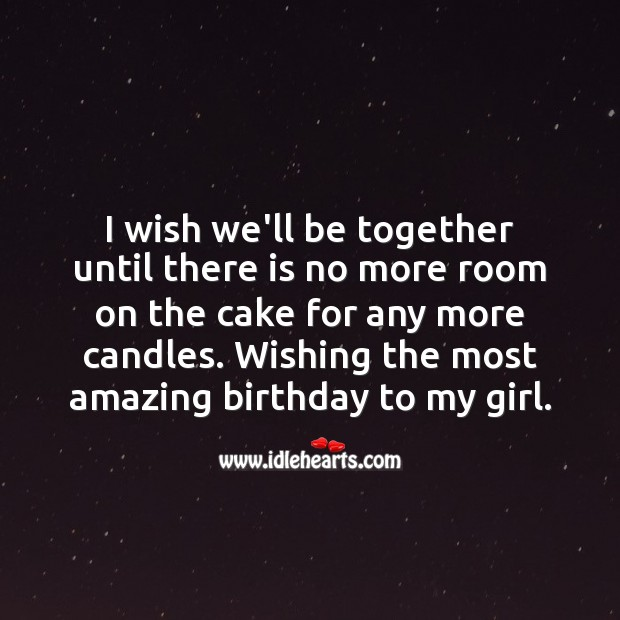 Wishing the most amazing birthday to my girl. Birthday Wishes for Girlfriend Image
