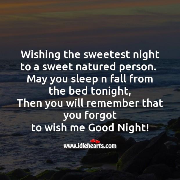 Wishing the sweetest night Image