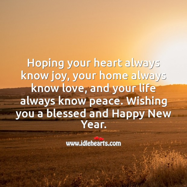 Wishing you a blessed and Happy New Year. Holiday Messages Image