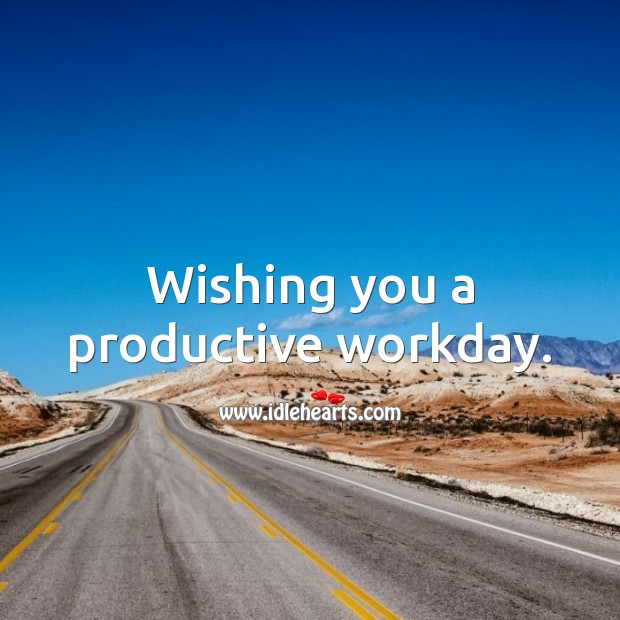 Wishing you a productive workday. Birthday Messages for Colleagues Image