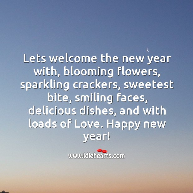 Wishing you a very happy new year! Image