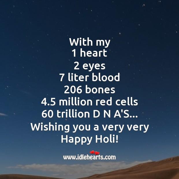 Wishing you a very very happy holi! Image