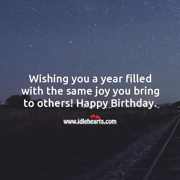Image, Wishing you a year filled with the same joy you bring to others!