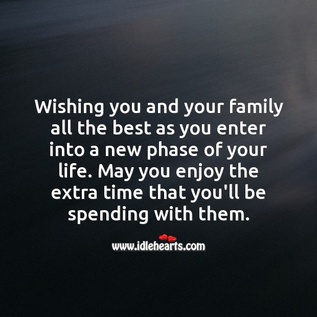 Wishing you all the best as you enter into a new phase of your life. Wishing You Messages Image