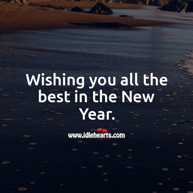 Wishing you all the best in the New Year. Holiday Messages Image