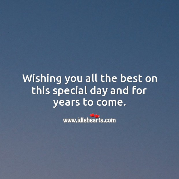 Wishing you all the best on this special day and for years to come. Marriage Quotes Image