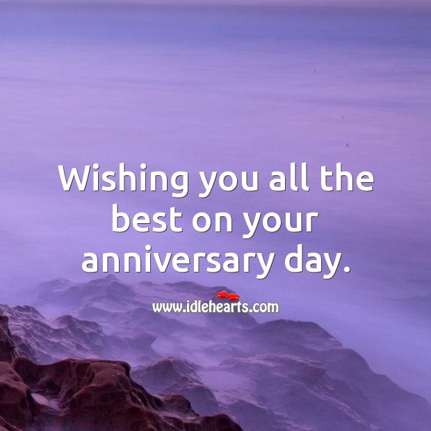 Image, Wishing you all the best on your anniversary day.